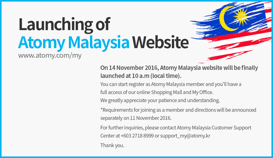 Announcement of the Launching of Atomy Malaysia