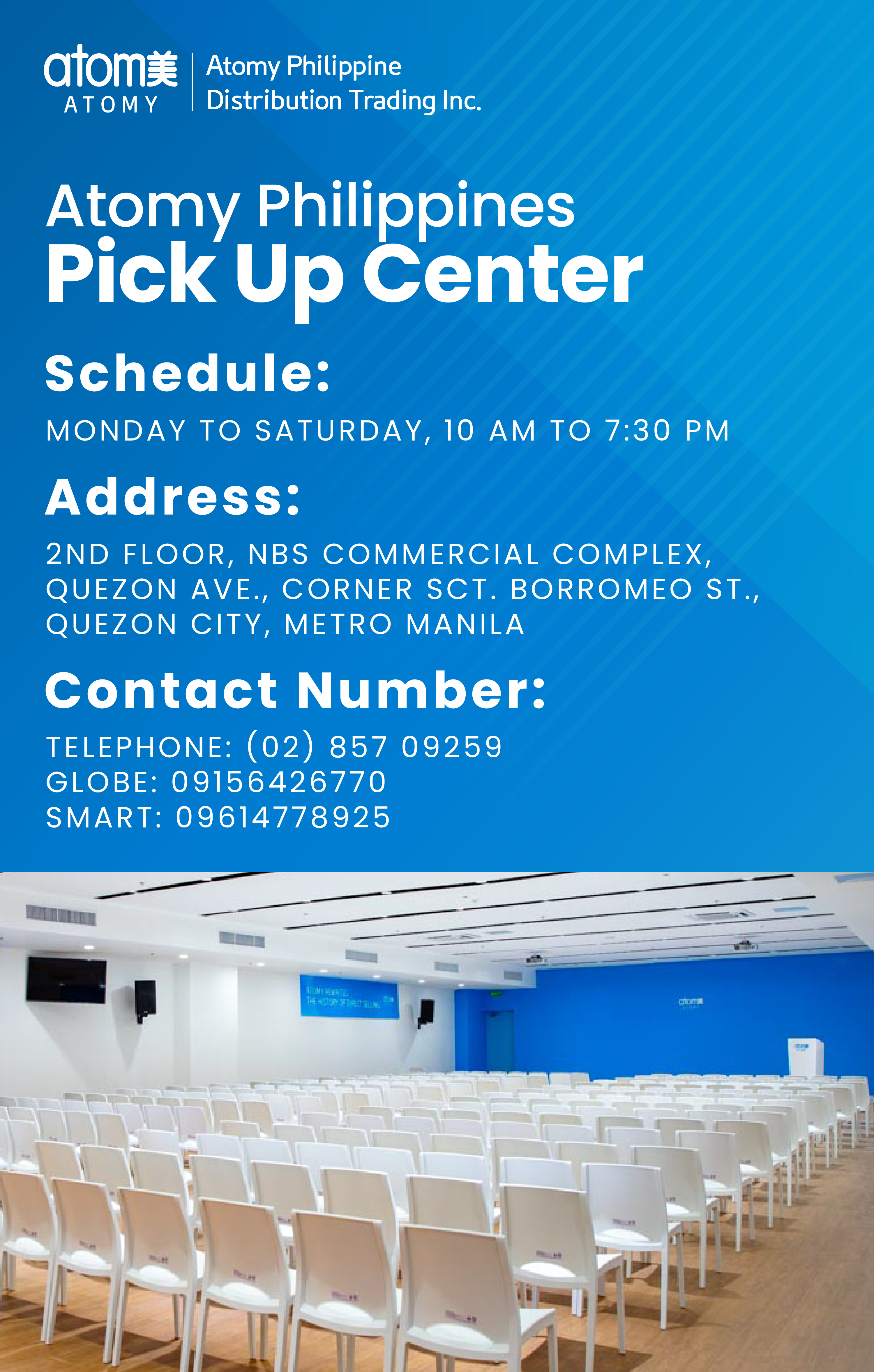 Special Announcement - Opening of Pick Up center