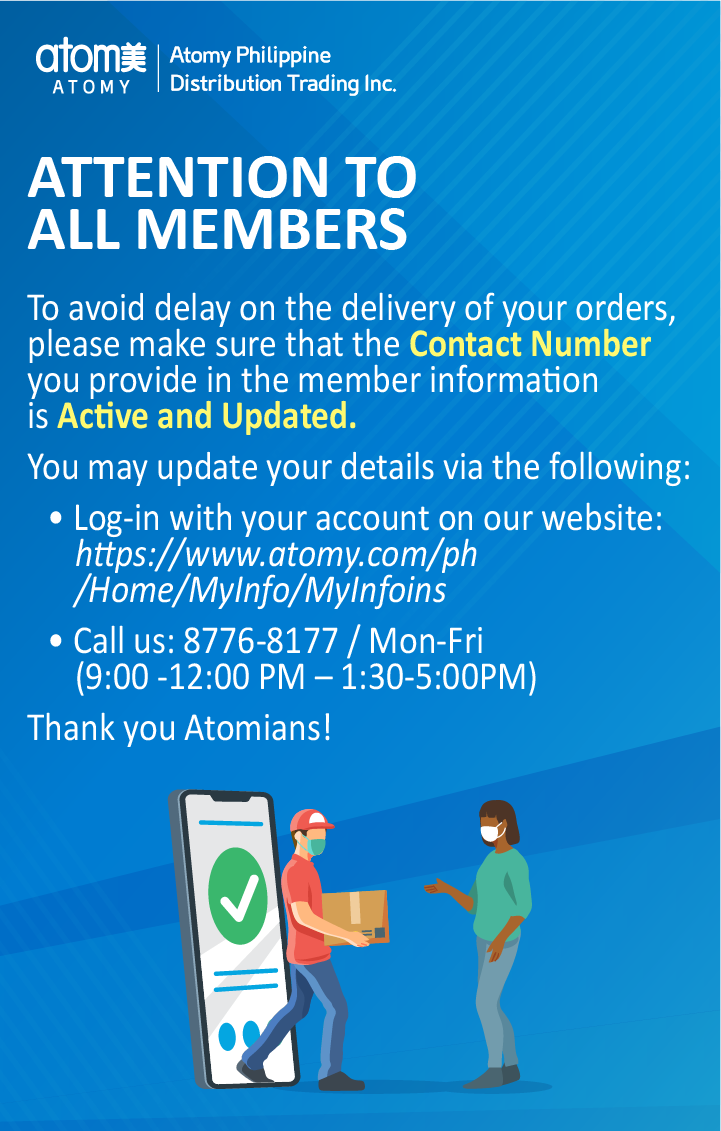 Delivery Announcement - Member contact update