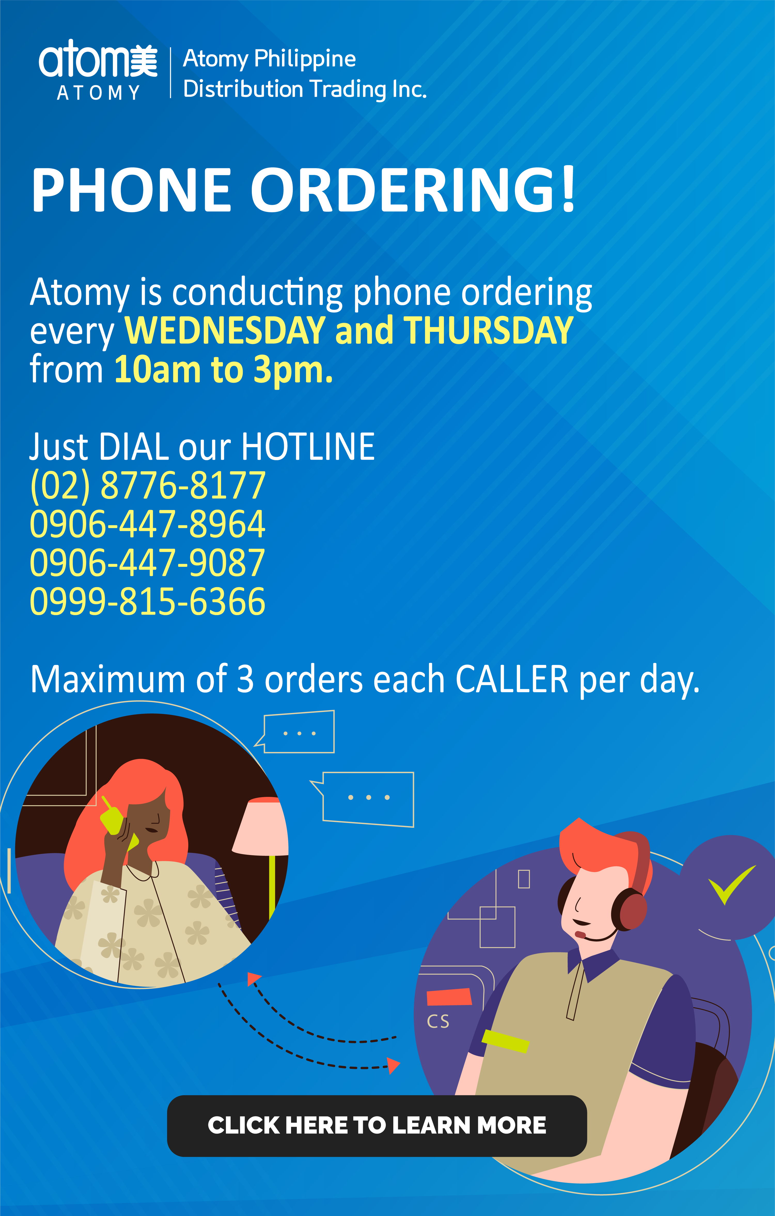 Announcement - Phone Ordering