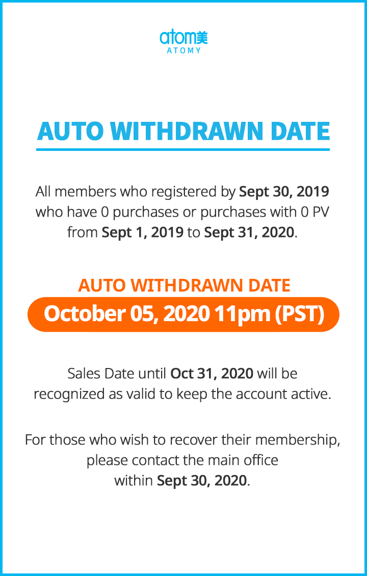 Auto Withdrawn : October 2020