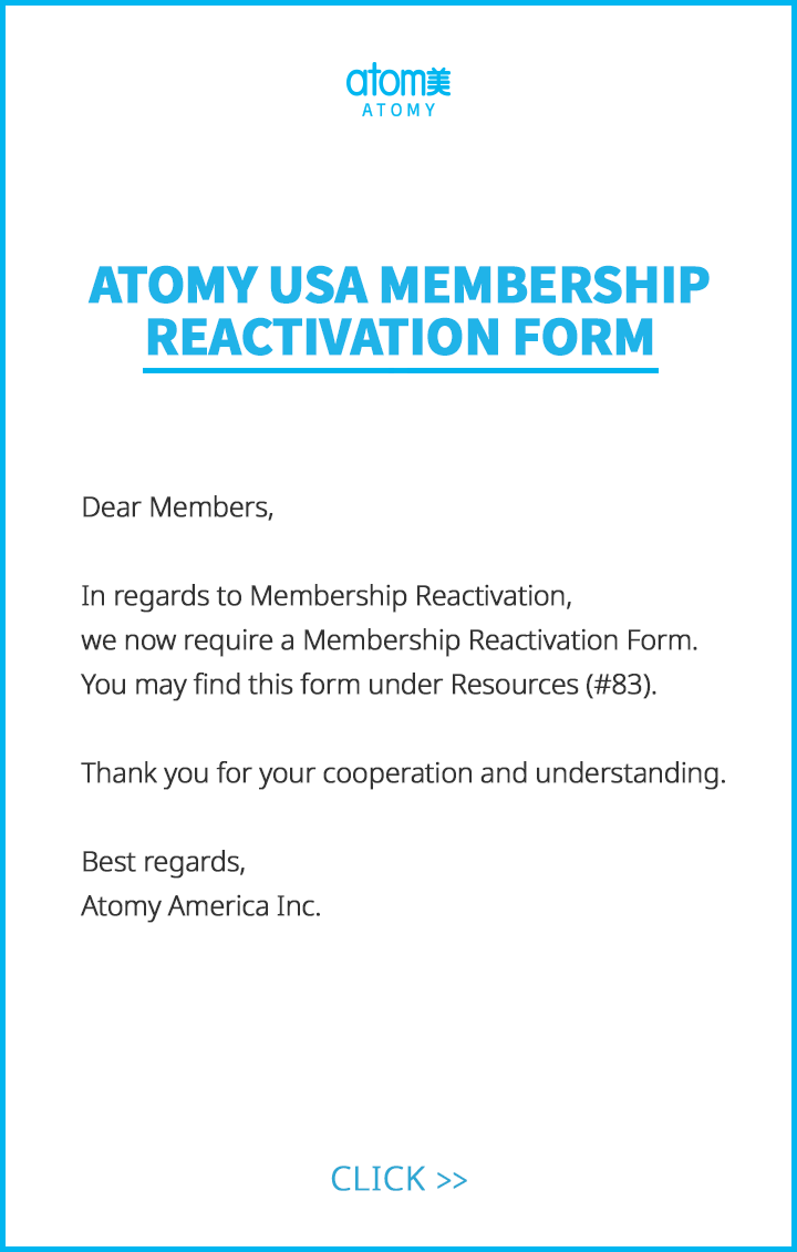 Membership Reactivation Form