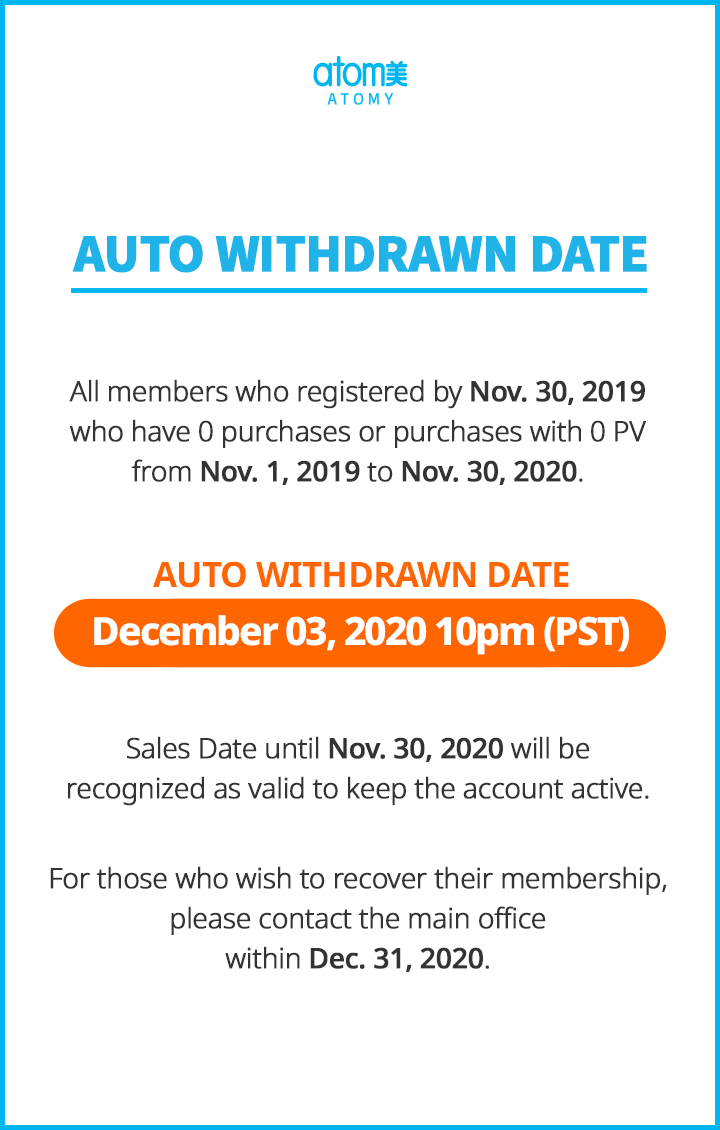 Auto Withdrawn : December 2020