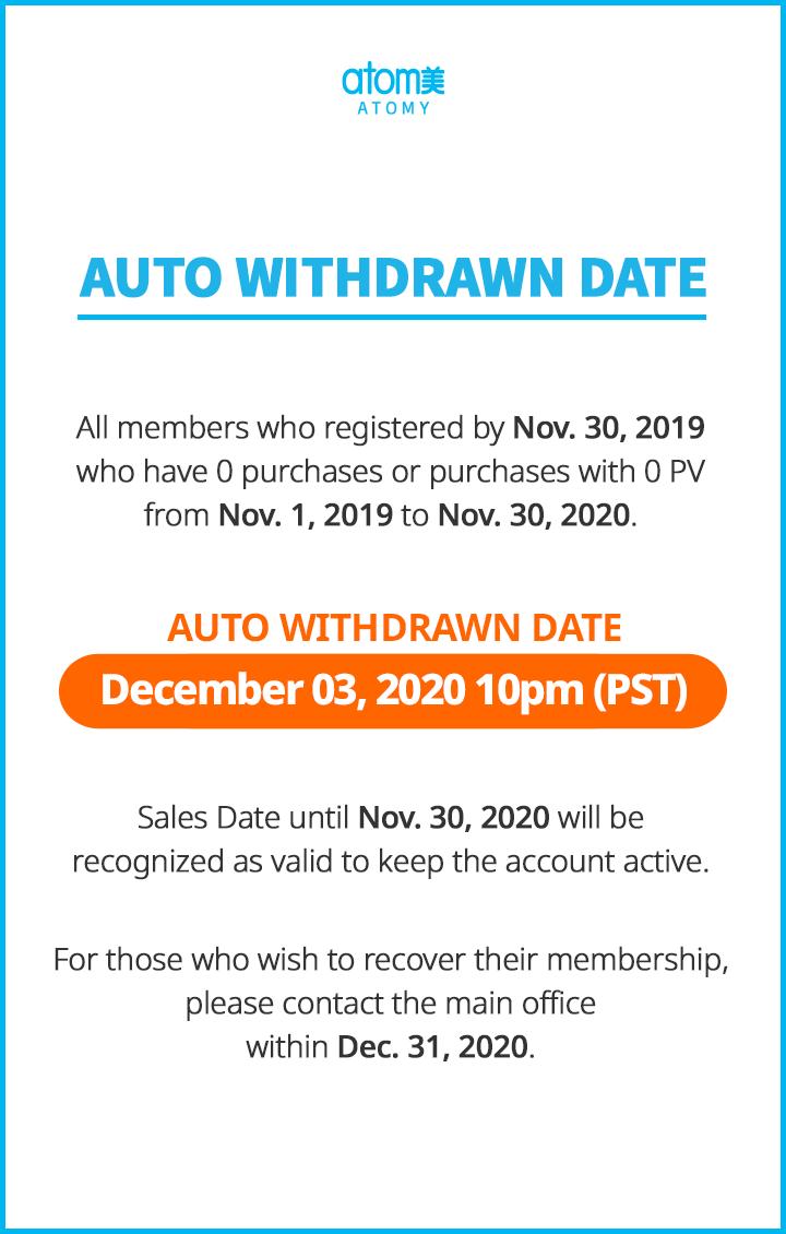 Auto Withdrawn : December 2020