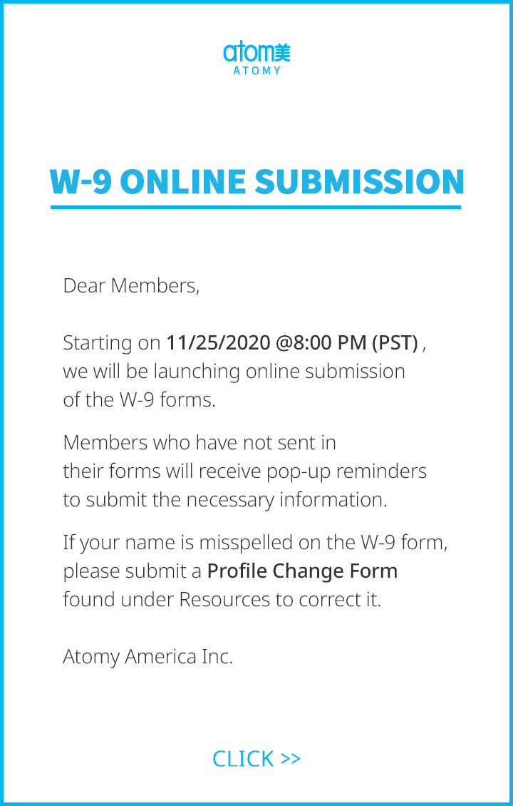 W-9 Online Submission