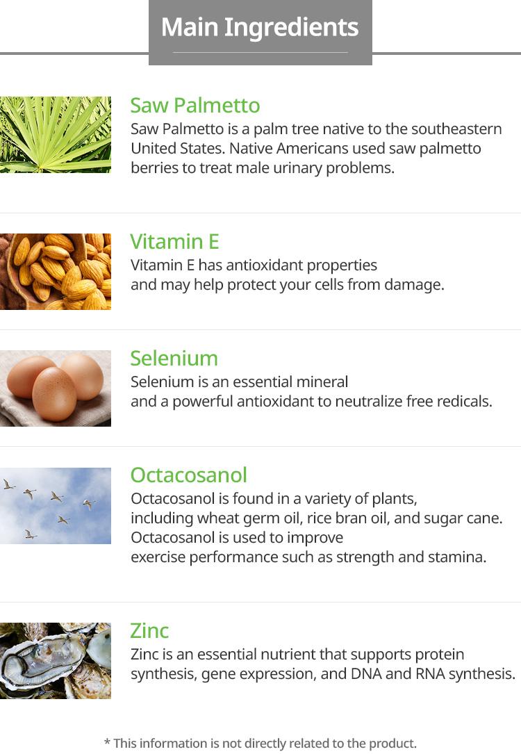 Atomy Saw Palmetto Main Ingredients